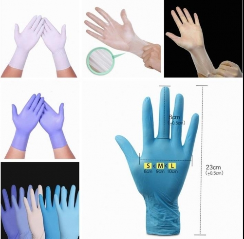 Medical Grade, Latex Rubber Free, Disposable Nitrile Gloves